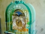 Glass grandfather clocks